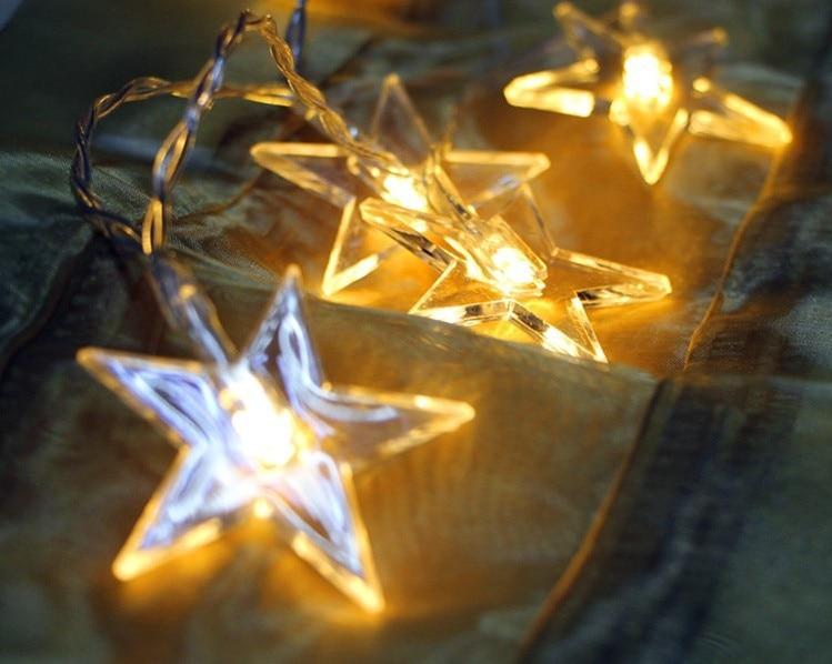 2M 20LED Twinkle Star Stränglampor Batteridriven Nursery Decorations - Festlig belysning - Foto 3