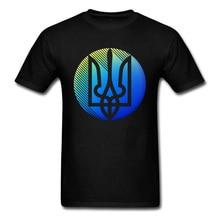 Ukrainian Trident T Shirt Designer O-Neck Crazy Short Sleeve 100% Cotton Men T-Shirt Print Free Shipping Sweatshirt