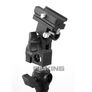Image 2 - Meking Flash Hot Shoe Speedlite Umbrella Mount Holder Swivel for Light Stand Flash Bracket B For Trigger Hot Shoe Flash
