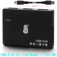 High Quality USB2 0 Card Reader HUB For TF Card SD Card MicroSD SDXC Card Adapter