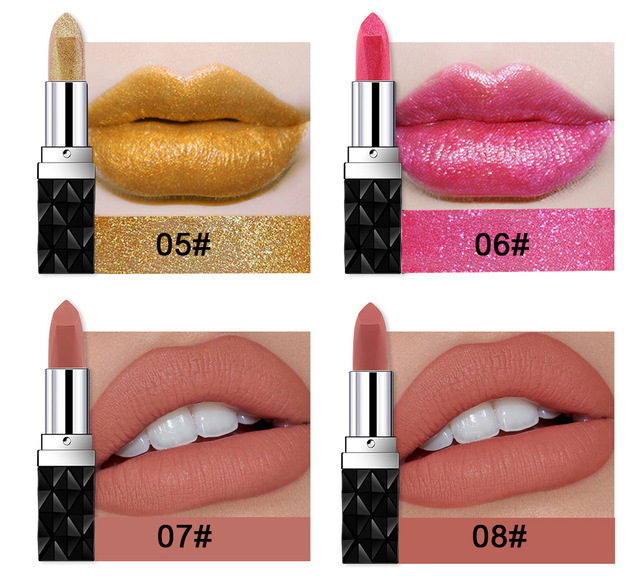 12 Colors Waterproof Lipstick Long-lasting Non-stick Cup