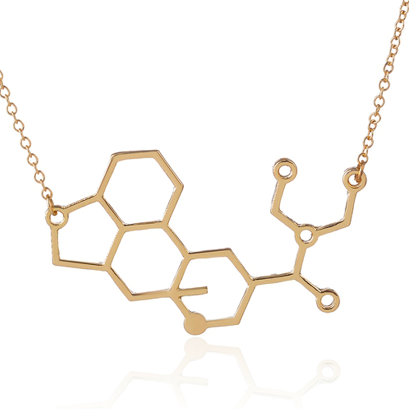 geekoplanet.com - Chemistry Science Molecule Necklace