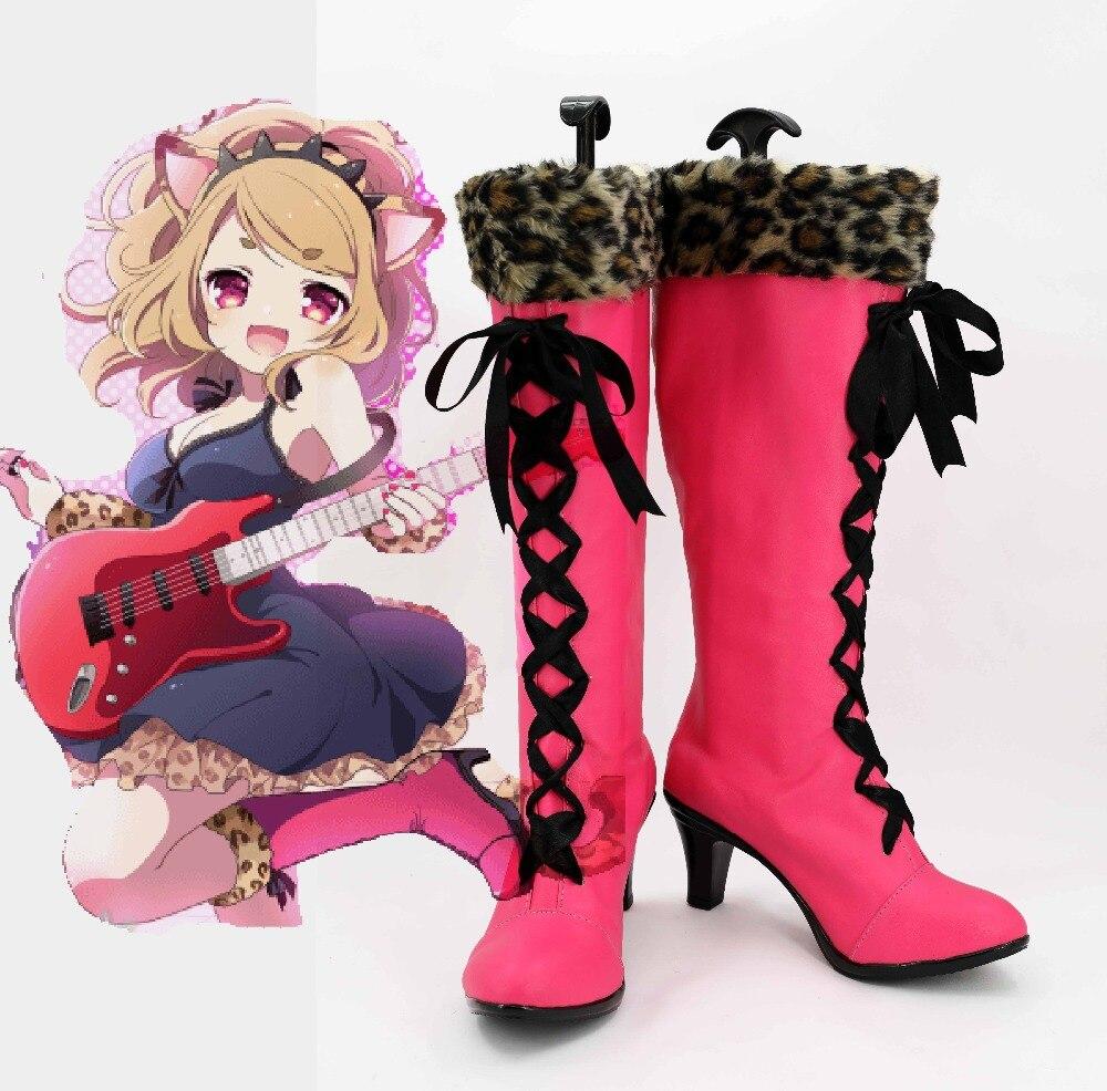 Show рок Сабер Косплей Костюм Принцесса настроить Remilia Алые Лолита панк нестандартная обувь сапоги