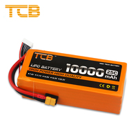TCB RC Lipo Battery 6S 22.2V 10000mAh 25C For Drone RC Helicopter Airplane Quadrotor Car FPV High Rate RC Battery LiPo
