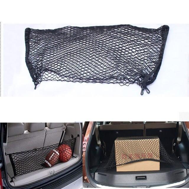 Car-styling bolsas de Malla Posterior Del Tronco 4 Bucles Dobles Capas de Sobres estilo red de carga bolsa de almacenamiento de artículos diversos para bmw e46 ford Explorer