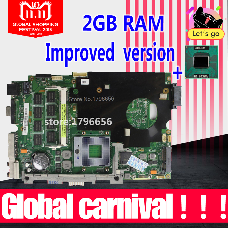 send cpu + with 2GB RAM for asus K40AB K40AD K40AF K50AB K50AD K50AF K40IN K40IJ K50IJ K50IN laptop motherboard stable quality! gzeele new laptop lcd back cover case for asus k50 k50ab k50ad k50ae k50af k50c k50i k50id k50ij k50in k50il k50ip k50ie a shell