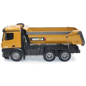 Image 5 - HUINA צעצועי 1573 1/14 10CH סגסוגת RC Dump משאיות הנדסת בניית מכונית שלט רחוק רכב צעצוע RTR RC משאית מתנה עבור ילד