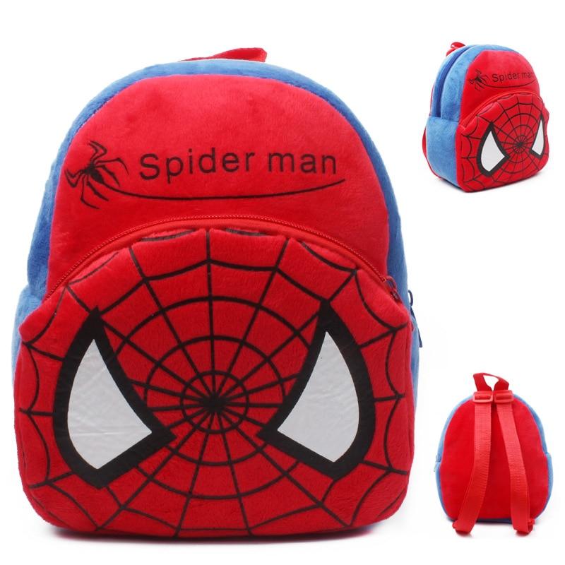 2017 New Baby Lovely School Bags Kids Spider Man Plush Backpack Cartoon Schoolbags Spiderman Mini Cute Bags For Kindergarten Boy