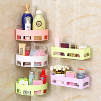Corner Shelf Bathroom Rack Storage Box For Soap&Sponge Sucker Drain House Gadgets Free Punching Wall Hanging Seamless Daily Tool