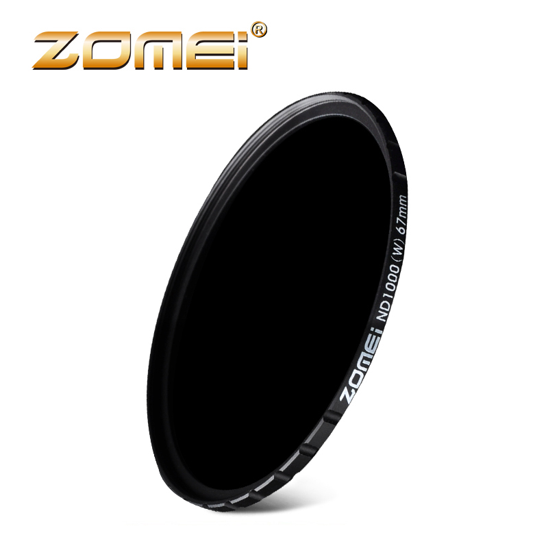 ZOMEI Optical Glass 10-STOP 52/58/67/72/77/82MM Ultra Slim HD Multi-coated Neutral Density ND1000 filter for DSLR 82mm zomei hd slim adjustable fader 18 layer nd2 400 filter neutral density nd optical glass for canon nikon sony pentax lens