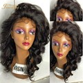 8A 130% Density Silk Top Full Lace Wigs Brazilian Virgin Hair Lace Front Human Hair Wigs Loose Curly Silk Base Front Lace Wig