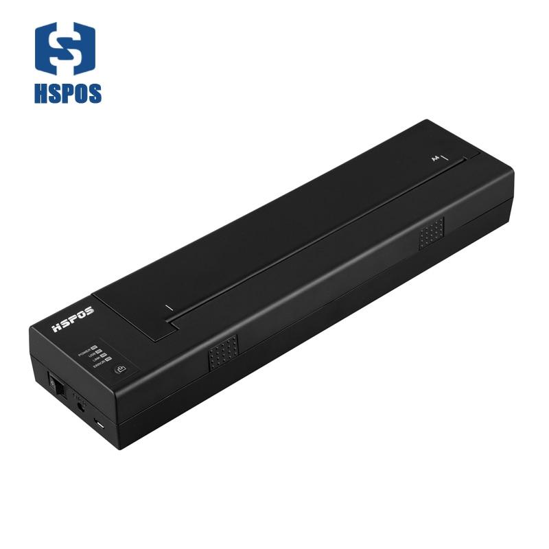 Vendita calda 50 mm/s mobile stampante termica portatile A4 con usb supporto porta tutti i windows e Linux driver 210mm max carta larghezza