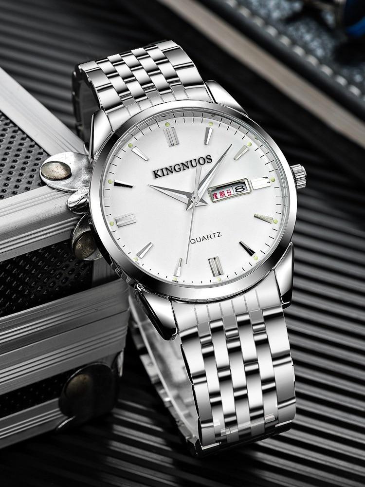 HTB1blPjpYuWBuNjSszgq6z8jVXay Kingnuos Brand New Design Business Man Watch Steel Waterproof Luminous Hour Date Week Clock Male Hodinky Quartz Men's Watch