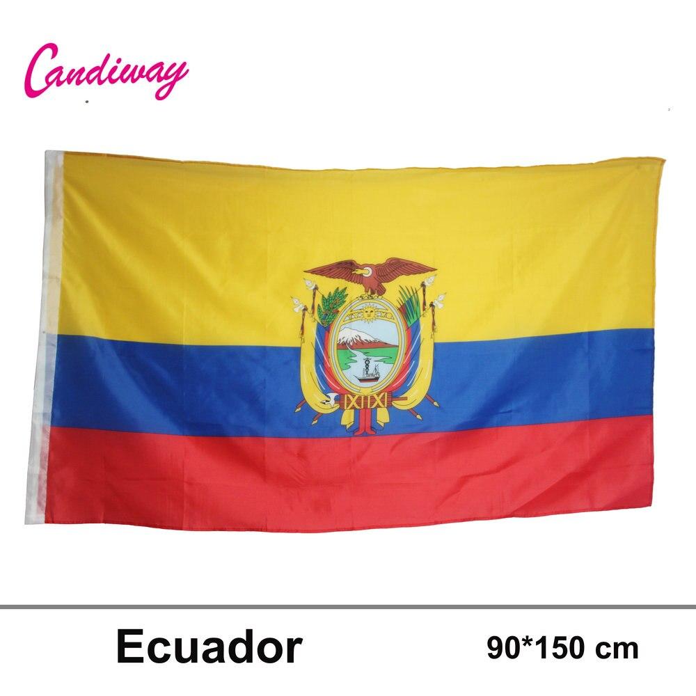 ECUADOR POLYESTER INTERNATIONAL COUNTRY FLAG Indoor Outdoor The Flag Of Ecuador Polyester Flag 5*3 FT 150*90 CM