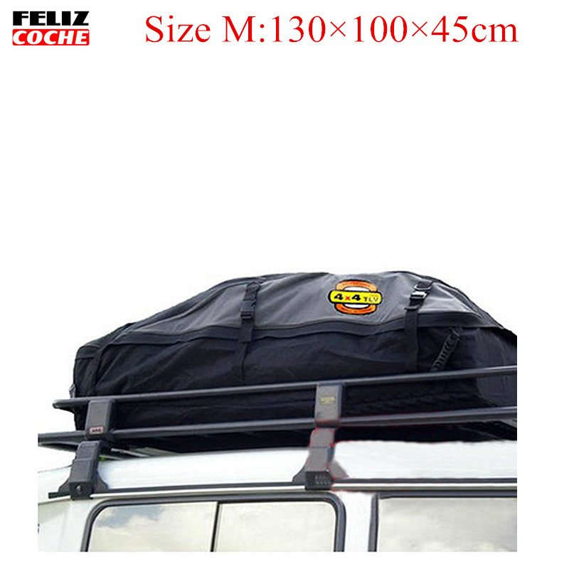 Size M Universal Roof Top Cargo Carrier Bag Roof Top Waterproof Luggage Travel Cargo Rack Storage Bag Carrier A2122 partol universal car roof rack cross bars crossbars with anti theft lock 60kg 132lbs cargo basket carrier snowboard luggage top