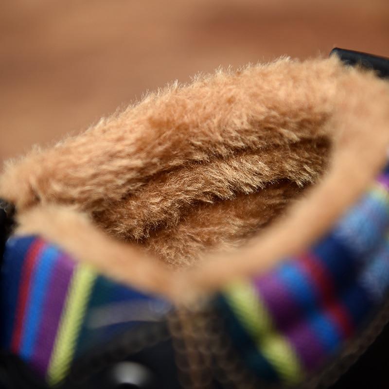 Homme Nausk Lace Plat Peluche Bleu Boot De Up Hommes Chaud Tactique D'hiver jaune Hiver Bottes Cuir Fourrure Imperméable Mode Noir En Mâle 7S6qF7