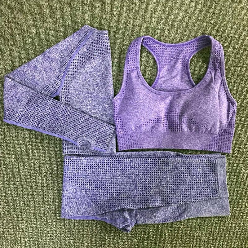 3pcs vital seamless yoga set women workout clothes vital bra long sleeve tops leggings fitness gym set women womans sport wear (3)