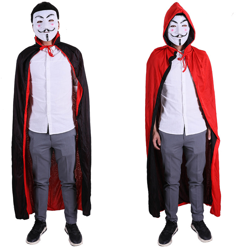 Halloween Party Death Cloak Cosplay Red Black Azrael dress smock For Women And Men