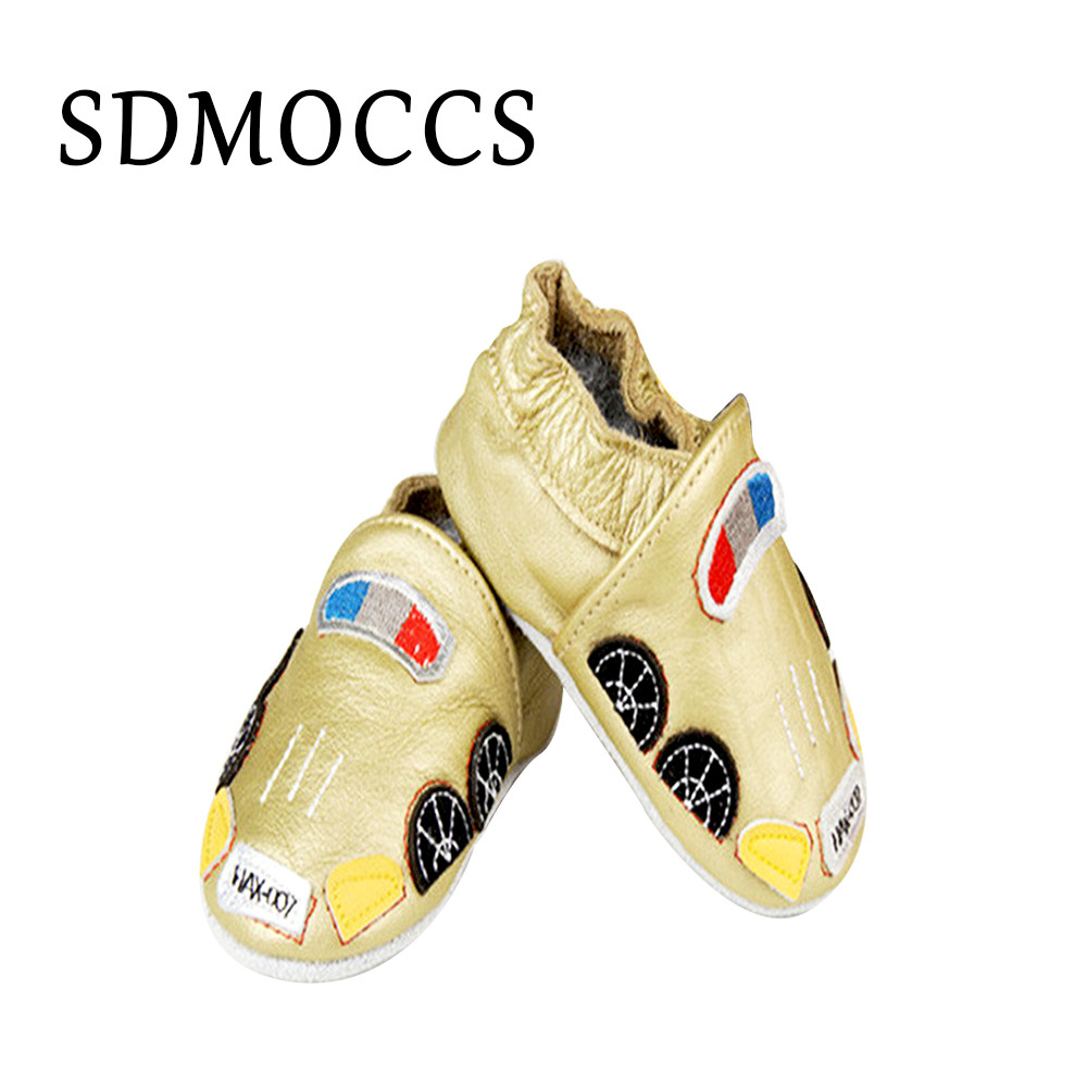 SDMOCCS Brand 2017 Leather Baby Shoes Boy Soft Soled Infant Animal Printed Tassel Baby Moccasins Newborn Todder Baby Shoes