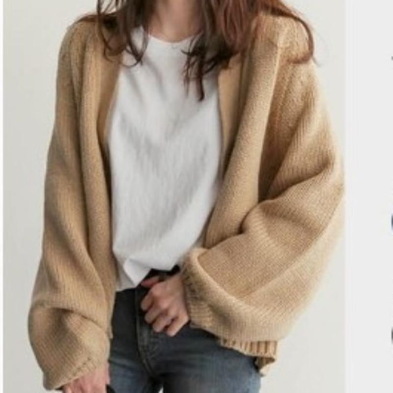 LANMREM 2020 Spring New Casual Fashion Women Jacket Loose Solid Color Short Knit Cardigan TC339