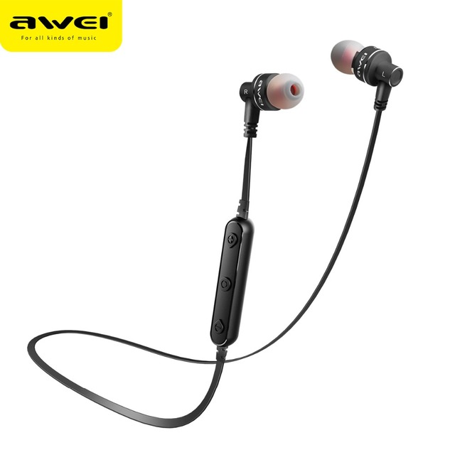 6545f1f720e AWEI B990BL Magnetic Wireless Headset Bass stereo Bluetooth Earphone Sports  with microphone Handfree Wireless Earphone Earbuds-in Bluetooth Earphones  ...