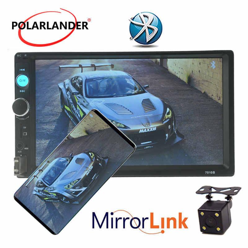 Autoradio 2 DIN オートカーラジオミラーリンクラジオカセットプレーヤー Bluetooth 7 ''インチの液晶タッチスクリーン車オーディオ 2 din 自動テープ