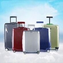 Capa de bagagem transparente para rimowa zíper mala de viagem capa acessórios de viagem claro protetor de bagagem capa para rimowa