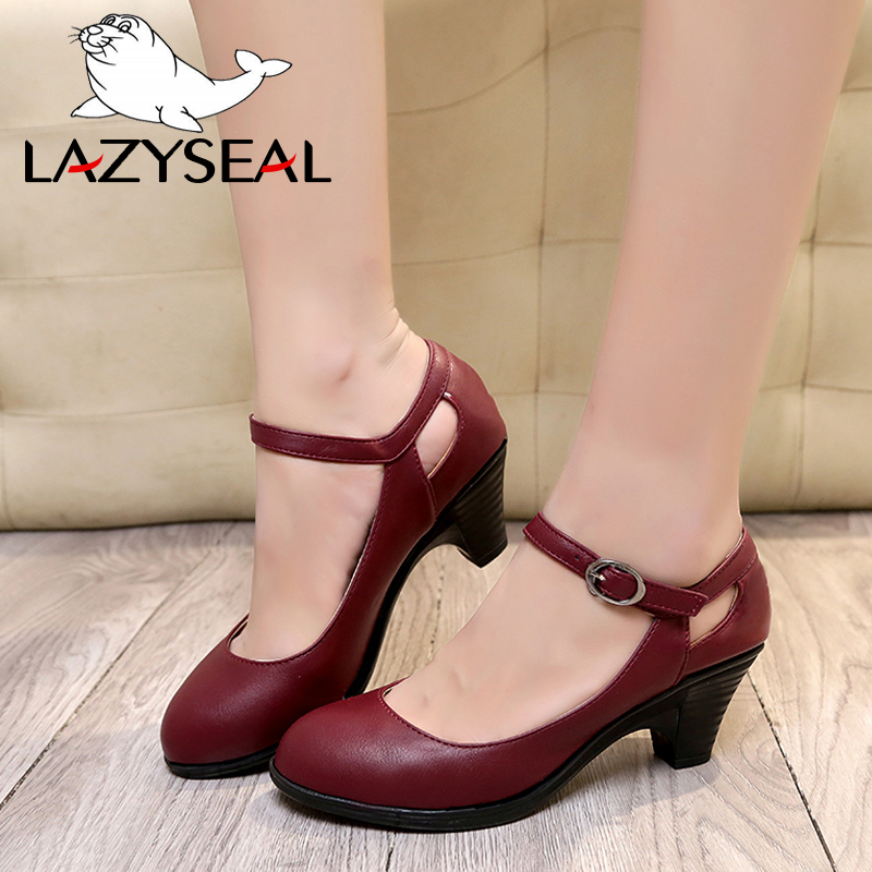 LazySeal Bling Pear Women Pumps High Heels Shoes Woman Spike Heels Pointed Toe Buckle Female Party Shoes Wedding Plus Size 44