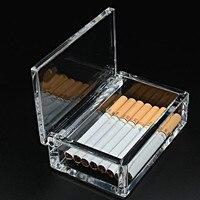 Otel Malzemeleri Toptan Yüksek dereceli Akrilik Sigara 20 Sigara Sigara Adam Şeffaf Plastik Kutu