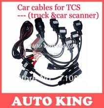 Loco comprar! Venta caliente OBD2 Cable para todos tcs cdp pro wow snooper herramienta diagnóstico multidiag pro + full 8 unids Cables Del Coche + free shi
