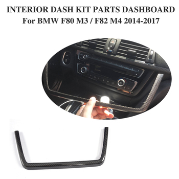 Carbon Fiber Interior Dashboard Kit Parts Trim for BMW F80 M3 Sedan 4D F82 M4 Convertible Coupe 2D14-17 Only Left Hand Driving image