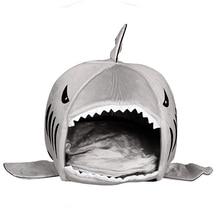 Casa de Perro Caliente Suave Saco de dormir Cama Perro Tiburón Cueva de Cama Almohada Cojín Lindo Gato de la perrera Nido Mascota Estera accesorios