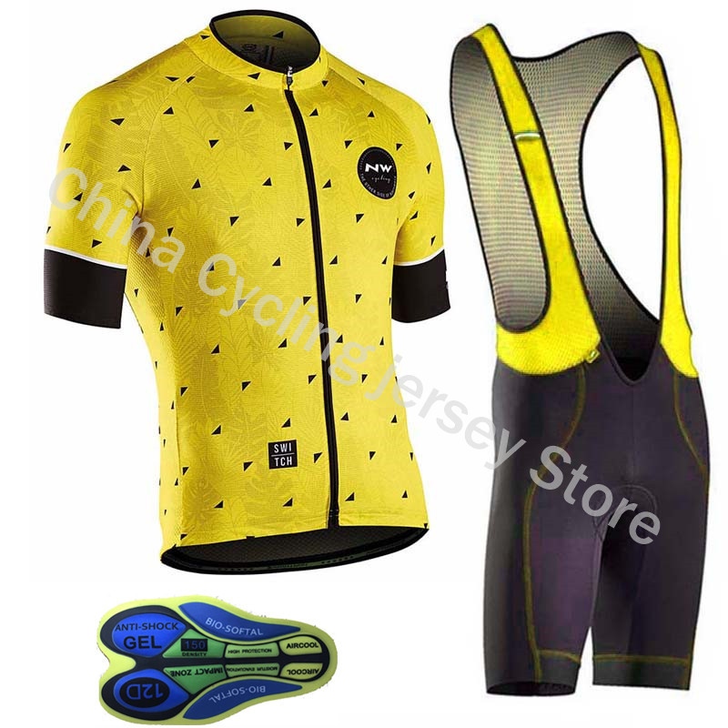 Ropa Ciclismo NW Northwave 2019 Pro team summer cycling jersey clothing men breathable MTB bike clothes bicycle shirt bib shortsRopa Ciclismo NW Northwave 2019 Pro team summer cycling jersey clothing men breathable MTB bike clothes bicycle shirt bib shorts