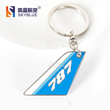 New Boeing  B787 Tailplane Shape Emblem Travel Luggage Tag ,  Gift for Aviation Lover Flight Workers Pilot