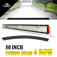 COLIGHT 50 Inch 888W Curved LED Light Bar Offroad Quad Row Work Light Combo Beams For