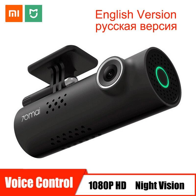 Contrôle vocal Xiaomi 70mai Voiture caméra dvr Full HD 1080 P Dash Cam camera de voiture Wifi vision nocturne 130 Grand Angle enregistreur vidéo