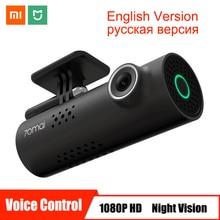Автомобильный видеорегистратор Xiaomi 70mai с голосовым управлением, Full HD 1080 P, видеорегистратор, автомобильная камера, Wi-Fi, ночное видение, 130 широкоугольный видеорегистратор