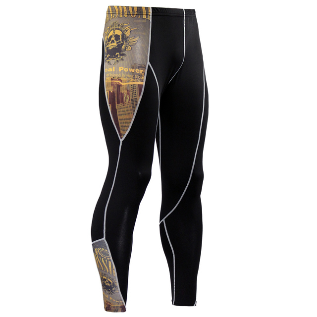 ec54c2dc6 2017 Mens Compression Pants Joggers Crossfit Men Elastic Trousers Tights  Bottom Weight Lifting Skinny Leggings Bodybuilding MMA