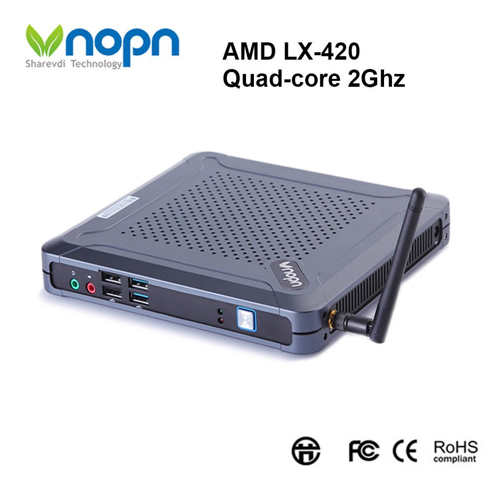 Mini PC AMD LX-420 Quad-core 2.Ghz Nettop Desktops Windows 7/8/10 8USB HDMI VGA RAM 8G SSD 256G Gaming Computer with WIFI image