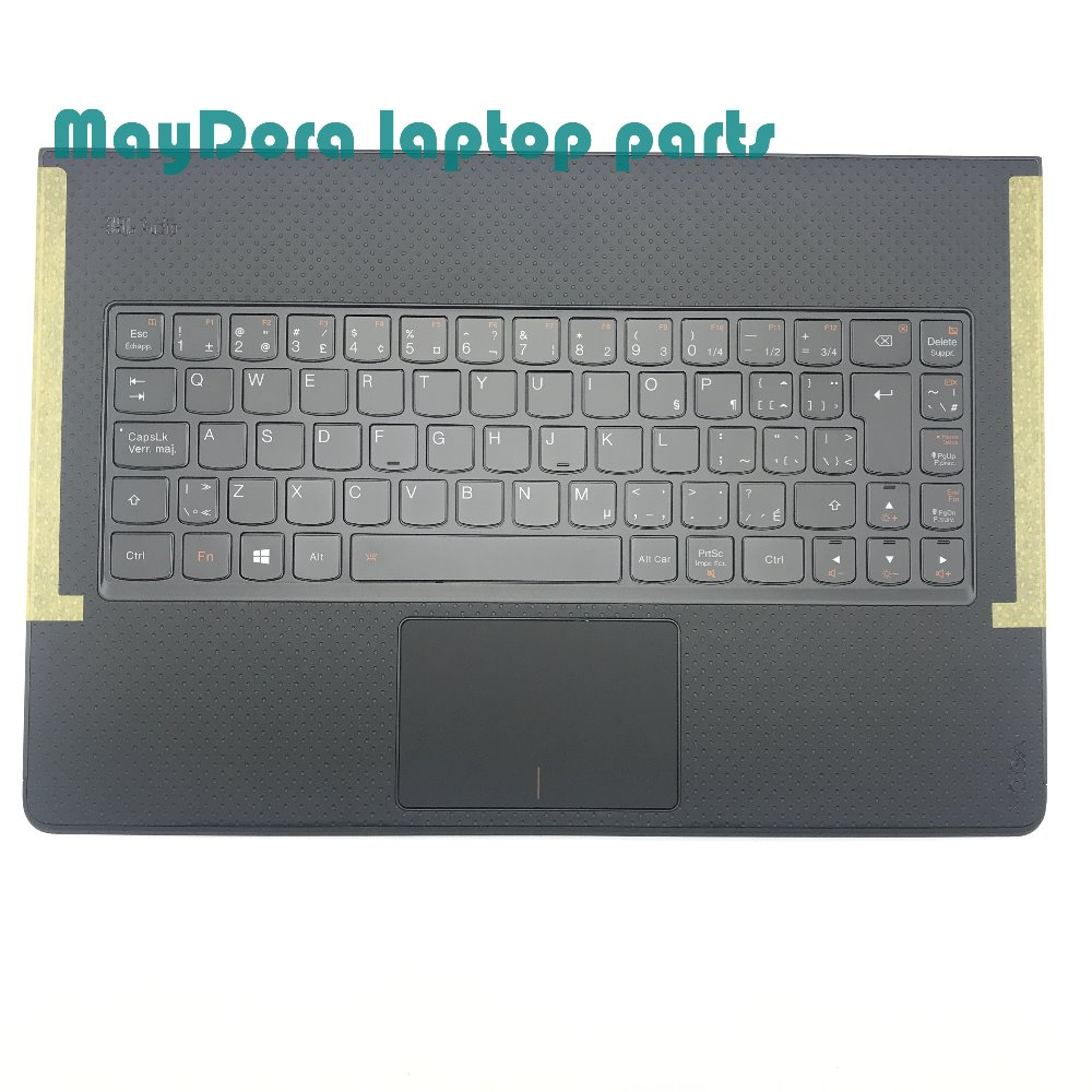 Laptop parts for LENOVO YOGA 3 pro 1370 Palmrest with Backlit CF-E Keyboard and touchpad 5CB0G97370