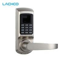 LACHCO Биометрические электронные замок двери отпечатков пальцев, пароль, механический ключ цифровой замок одной защелки цинковый сплав L16093