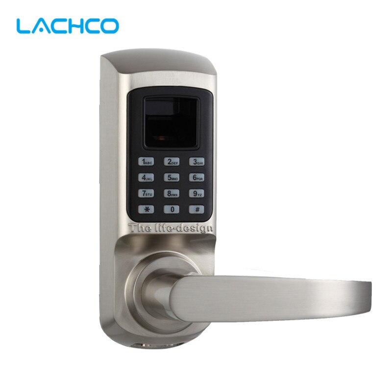 LACHCO Biometrische Elektronische Slot Deurslot Vingerafdruk, Wachtwoord, Mechanische Sleutel Digitale Lock Single Klink Zinklegering L16093-in Elektrisch slot van Veiligheid en bescherming op AliExpress - 11.11_Dubbel 11Vrijgezellendag 1
