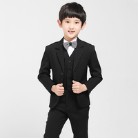 2017 Autumn Boys Formal Suits For Weddings England Style Children Black Party Tuxedos Boys Prom Vest