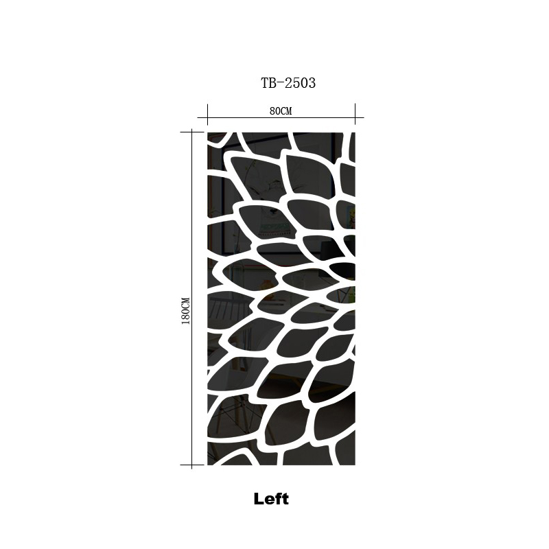 Kreative blättern gras muster kreis dot acryl spiegel wandaufkleber aufkleber DIY schlafzimmer friseursalon decor dekorative spiegel R099 - 6