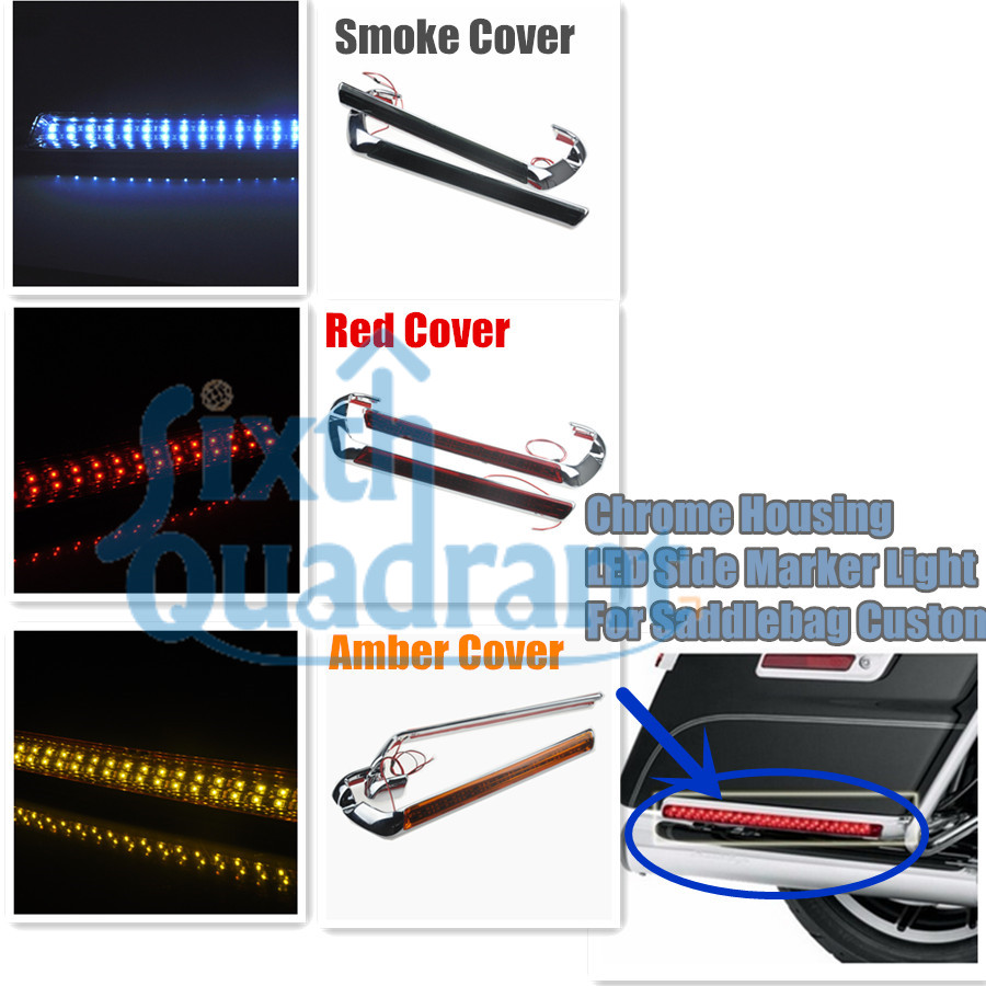 Free Shipping  Wedge LED Brake Tail Light Rear Saddlebag Accents Lights For Harley Touring 14-later 1OEM 68000082 brand new silver color motortcycle accessories abs plastic led tail light fit for harley harley iron 883 xl883n xl1200n chopped