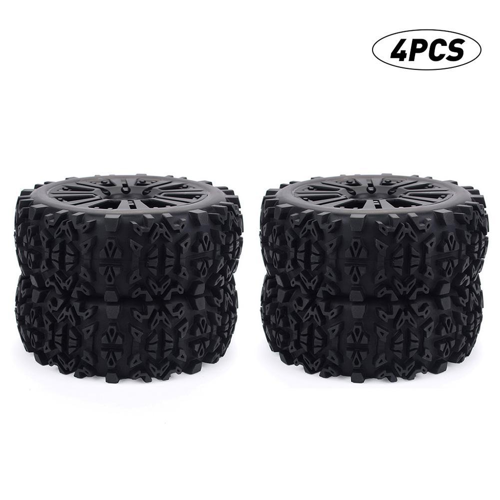2PCS/4PCS 17mm Hub Wheel Rim & Tires Tyre for 1/8 Off-Road RC Car Buggy Redcat Team Losi VRX HPI Kyosho HSP Carson Hobao