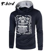 T Bird Hoodie Men Letter 3D Printing Hip Hop Sweatshirt Fashion Mens Hoodie 2017 Brand Winter