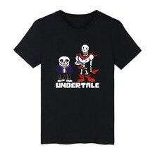 Cartoon Undertale Kurzarm T-shirt Schwarz Marke Frauen Mode Hip Hop stil Baumwolle T-shirt Männer Lustige Luxus In Plus Größe 4XL