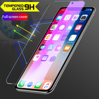 Lot 100pcs 3D Glossy Anti-Fingerprint Tempered glass For Xiaomi Mi8 Premium Full Cover Film Screen Protector