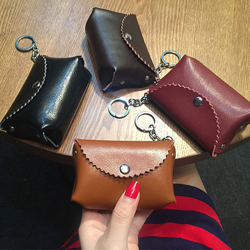 2018 Limited Rushed Mini Zero Coin Purse Bag Small Leather Wallet Brief Paragraph Contracted Han Edition Key Buckles Female